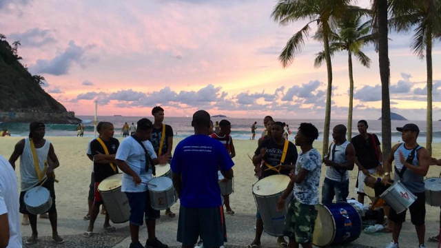 Beach drumming
